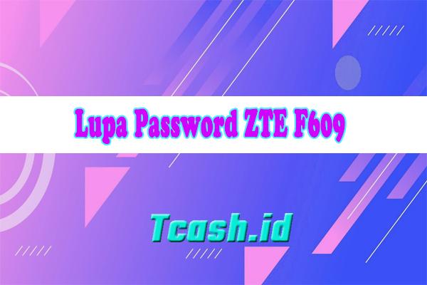 Lupa Password ZTE F609
